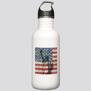 Vintage Statue Of Liberty Stainless Water Bottle 1