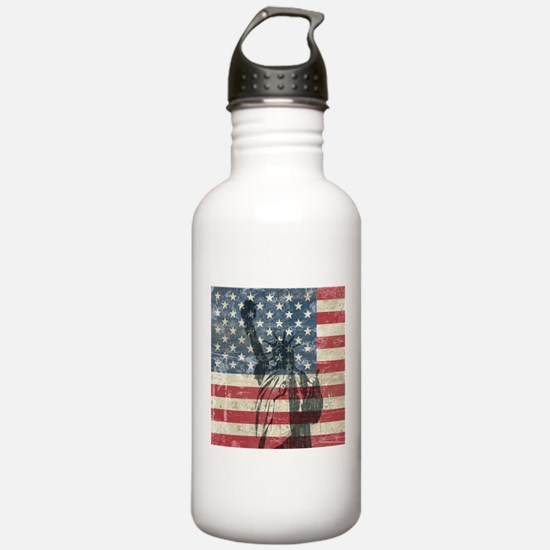 Vintage Statue Of Liberty Sports Water Bottle
