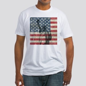 Vintage Statue Of Liberty Fitted T-Shirt
