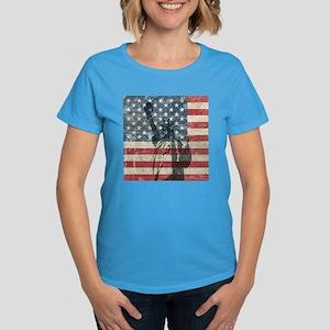Vintage Statue Of Liberty Women's Dark T-Shirt