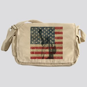 Vintage Statue Of Liberty Messenger Bag