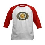 Indian gold oval 3 Kids Baseball Jersey
