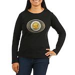 Indian gold oval 3 Women's Long Sleeve Dark T-Shir