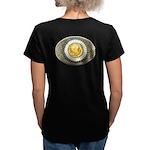 Indian gold oval 3 Women's V-Neck Dark T-Shirt