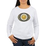 Indian gold oval 3 Women's Long Sleeve T-Shirt
