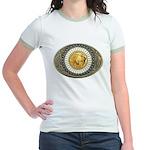 Indian gold oval 3 Jr. Ringer T-Shirt