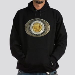 Indian gold oval 3 Hoodie (dark)