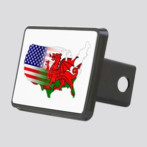 American Welsh Map Rectangular Hitch Cover