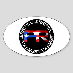 PR BORICUA Sticker (Oval)