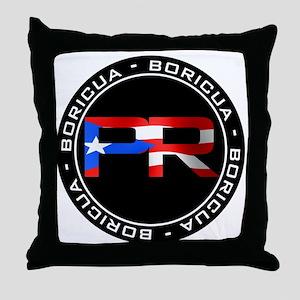 PR BORICUA Throw Pillow