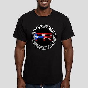 PR BORICUA Men's Fitted T-Shirt (dark)