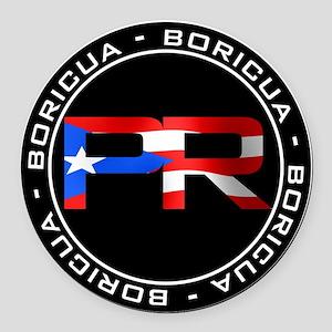 PR BORICUA Round Car Magnet