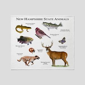New Hampshire State Animals Throw Blanket