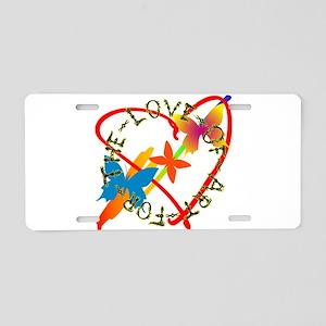 For The Love Of Art Aluminum License Plate