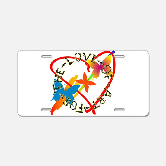 For The Love Of Art Aluminum License Plate