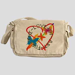For The Love Of Art Messenger Bag