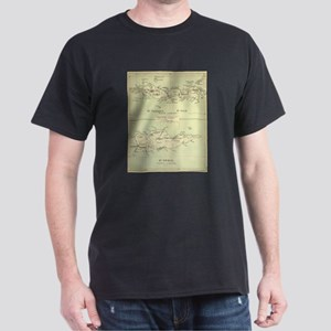 Vintage Map of The Virgin Islands (1853) T-Shirt