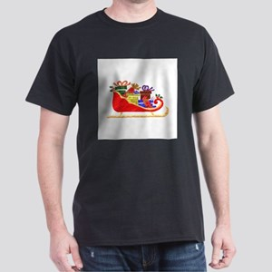 Sleigh With GIfts Dark T-Shirt