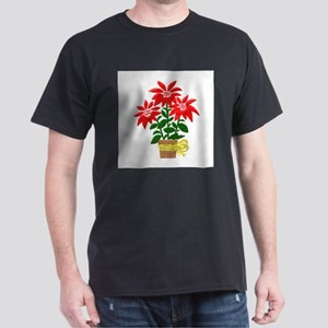 Christmas or Holiday Poinsetta Dark T-Shirt