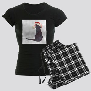 Christmas Cat With Hat Women's Dark Pajamas