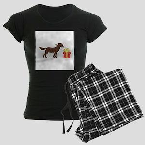 Dog & Christmas Gift Women's Dark Pajamas