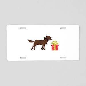 Dog & Christmas Gift Aluminum License Plate