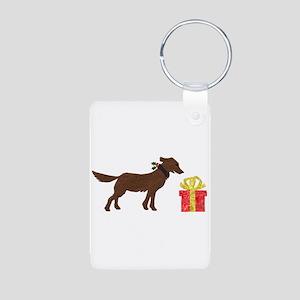 Dog & Christmas Gift Aluminum Photo Keychain