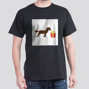 Dog & Christmas Gift Dark T-Shirt