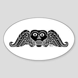 Old Bones Oval Sticker