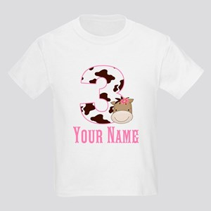 3rd Birthday Girl Horse Kids Light T-Shirt