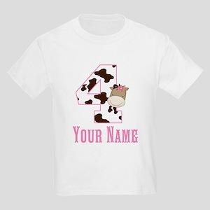 4th Birthday Girl Horse Kids Light T-Shirt