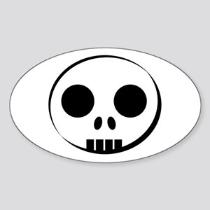 Skull Buddy Oval Sticker