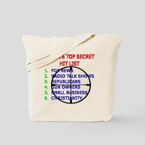 OBAMAS HIT LIST Tote Bag