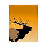 Sunset Bugling Elk Twin Duvet Cover