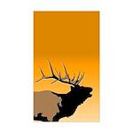 Sunset Bugling Elk Sticker (Rectangle 50 pk)