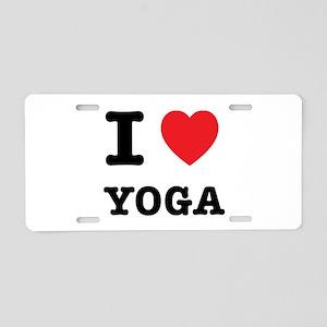 I Heart Yoga Aluminum License Plate
