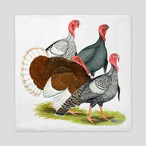 Heritage Turkeys Queen Duvet