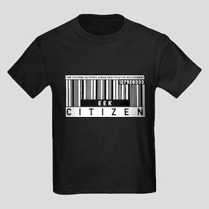 Eek, Citizen Barcode, Kids Dark T-Shirt