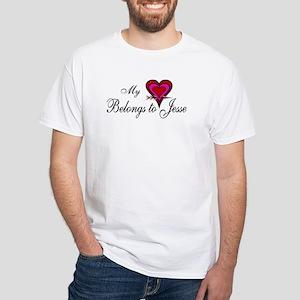 My Heart Belongs to Jesse White T-Shirt