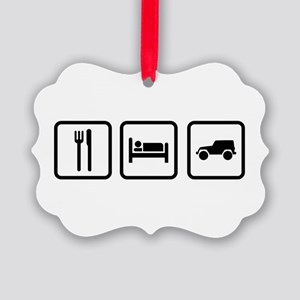 Eat Sleep Jeep Picture Ornament