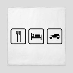 Eat Sleep Jeep Queen Duvet