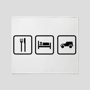 Eat Sleep Jeep Throw Blanket