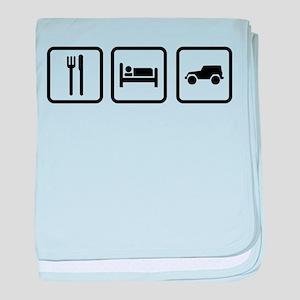 Eat Sleep Jeep baby blanket