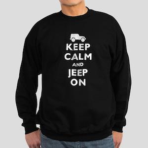 Keep Calm and Jeep On Sweatshirt (dark)