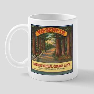 Yosemite Fruit Crate Label Mug