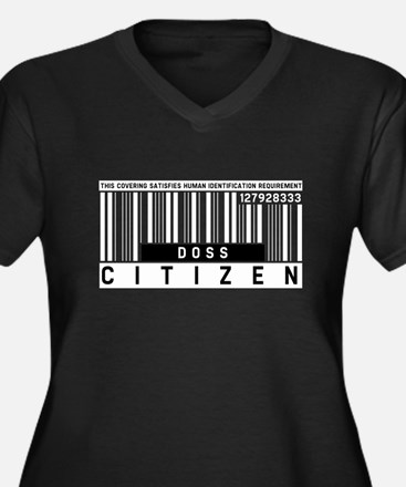 Doss, Citizen Barcode, Women's Plus Size V-Neck Da