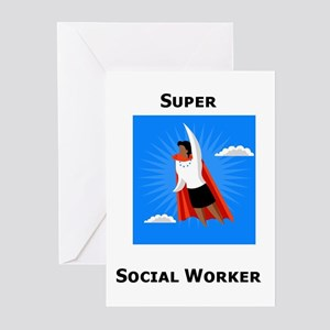 Super Social Worker Greeting Cards