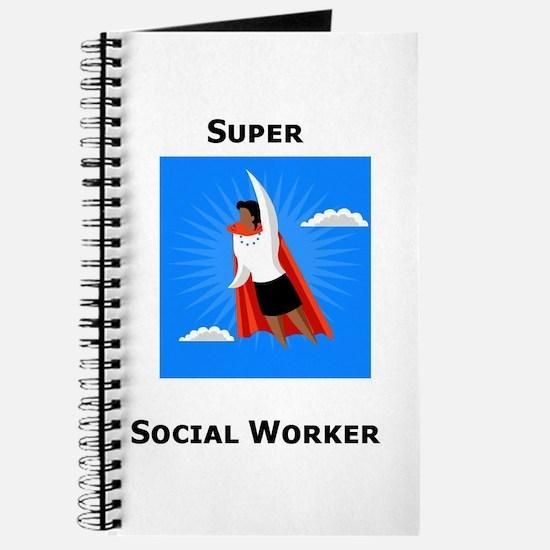 Cute Super social worker Journal