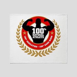 Natural Athlete Throw Blanket