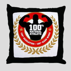 Natural Athlete Throw Pillow